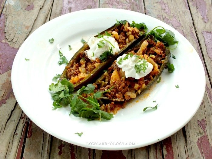 low carb stuffed poblano peppers 7 carbs|lowcarb-ology.com