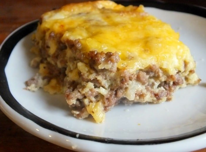 Low Carb Cheeseburger Casserole