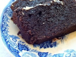 Low-carb chocolate pound cake is easy to make.