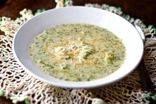 Easy, low carb cream of broccoli soup is a quick, comforting meal. from Lowcarb-ology.com