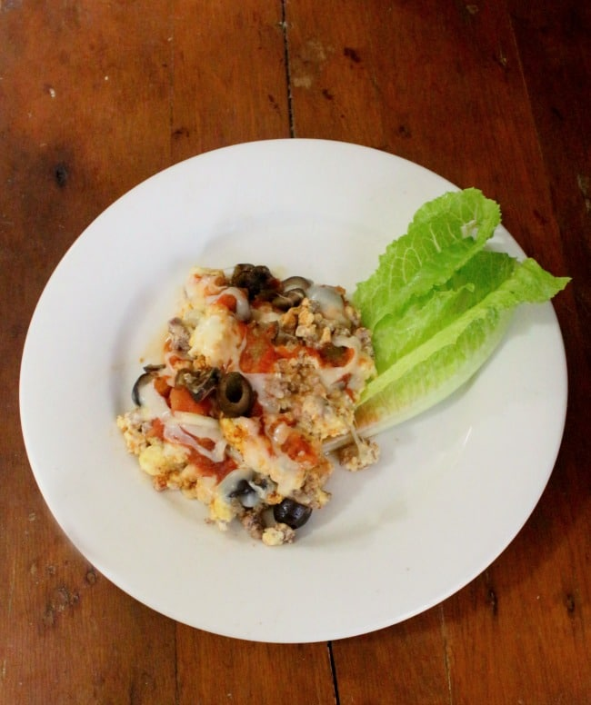lowcarb migas with olives