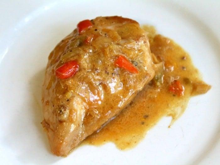 Low Carb Guajillo Chile Chicken in Cream Sauce
