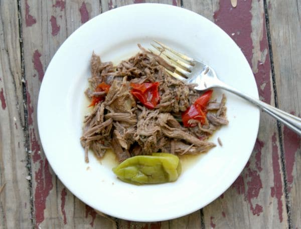 Slow Cooker Italian pot roast is an easy, low carb dinner that the whole family will love. lowcarb-ology.com