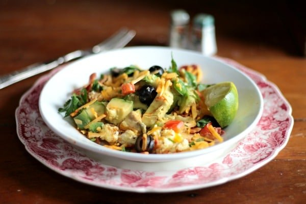This lowcarb avocado breakfast bowl is my favorite hearty breakfast! One of these and you'll be full all day! From Lowcarb-ology.com