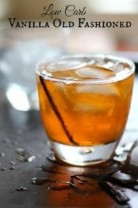 This low carb vanilla old fashioned is a delicious twist on a classic cocktail.