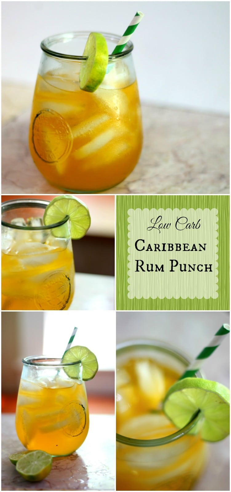Low carb Caribbean Rum Punch has less than 1 carb -- It's an Atkins friendly cocktail and it's so good! From Lowcarb-ology.com
