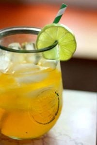 Low carb Caribbean Rum Punch has less than 1 carb per glass. From lowcarb-ology.com