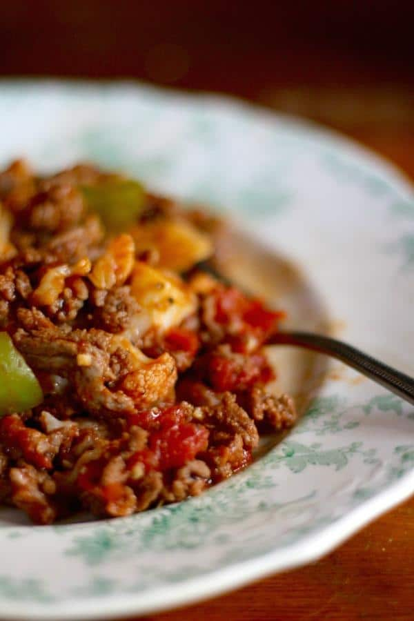 This low carb American goulash is so yummy - and just over 4 net carbs per serving. From Lowcarb-ology.com