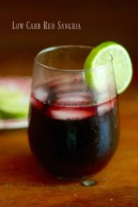 Low Carb Red Sangria Recipe Has Just 3 Carbs for 8 Ounces.