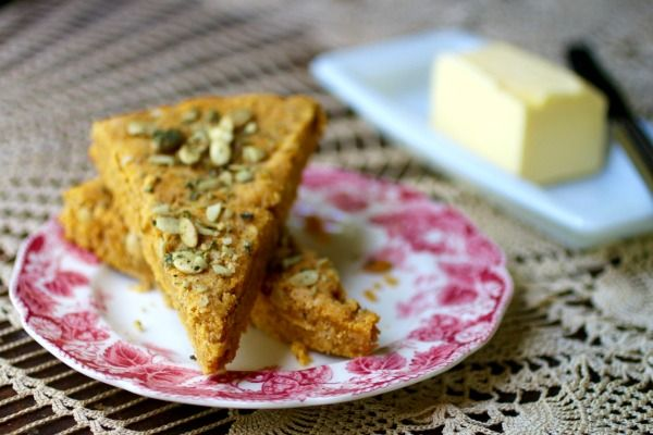 Low carb pumpkin spice scones are full of fall flavor. From Lowcarb-ology.com