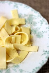 quick and easy, these homemade low carb egg noodles are perfect with any low carb pasta sauce. From Lowcarb-ology.com