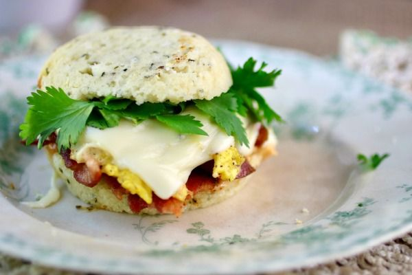 Take a bite of this low carb breakfast sandwich and you won't miss fast food ever again! It's delicious! From Lowcarb-ology.com