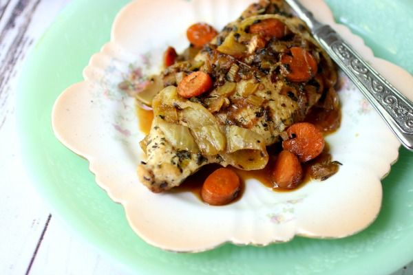 Horizontal feature image for the cognac French chicken breasts recipe