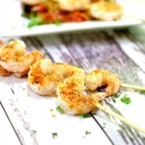 square image of grilled shrimp for the recipe box