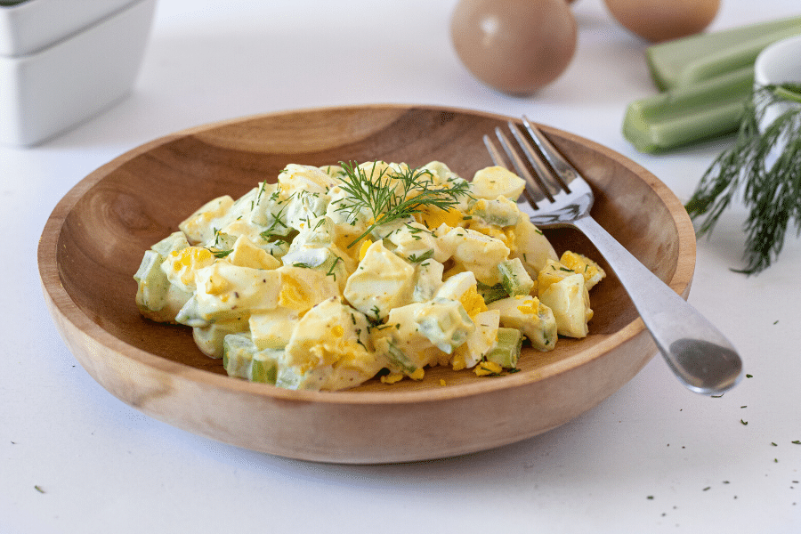 Keto Egg Salad Recipe Banner Image
