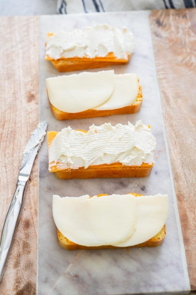 Adding Cheese Slices on Bread